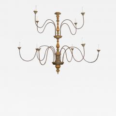 Tuscan Two Tier Monumental Painted Chandelier - 1494472
