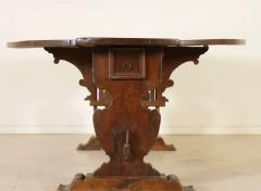 Tuscan Walnut drop leaf Center table circa 1850 - 703006