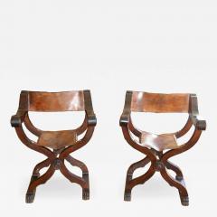 Tuscan folding chairs Circa 1860 - 1126337