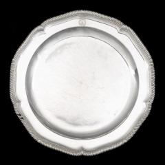 Twelve dinner plates from Admiral Lord Bridport s seagoing silver service 1785 7 - 1397898