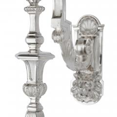 Two 19th Century French Neoclassical Style Three Branch Wall Lights - 2013555