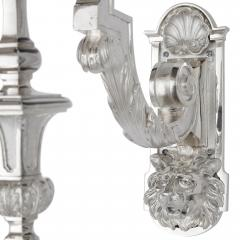 Two 19th Century French Neoclassical Style Three Branch Wall Lights - 2013558