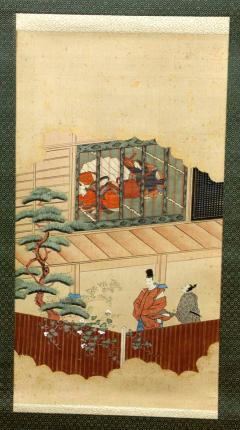 Two Antique Japanese Hanging Scroll Paintings - 1247765