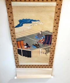Two Antique Japanese Hanging Scroll Paintings - 1247768