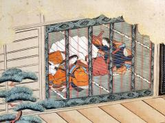 Two Antique Japanese Hanging Scroll Paintings - 1247772