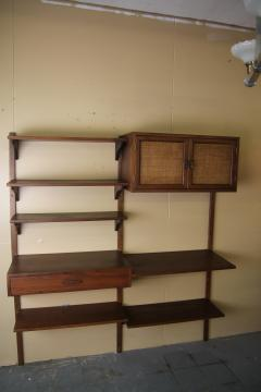 Two Bay walnut wall unit - 1048007