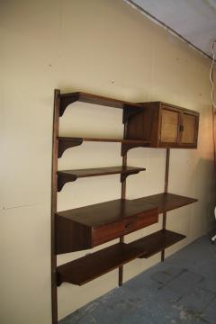 Two Bay walnut wall unit - 1048008
