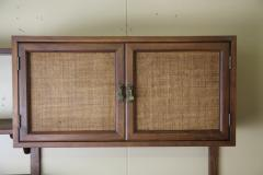 Two Bay walnut wall unit - 1048009