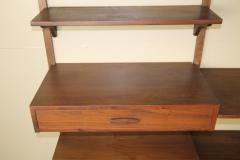 Two Bay walnut wall unit - 1048011