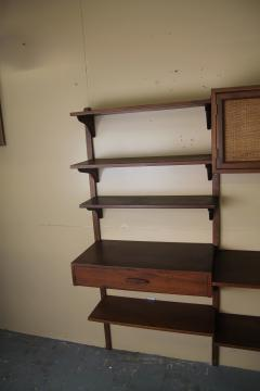 Two Bay walnut wall unit - 1048013
