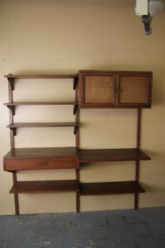 Two Bay walnut wall unit - 1048017