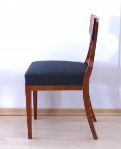 Two Biedermeier Style Chairs Cherry Veneer Birch Roots South Germany - 955135