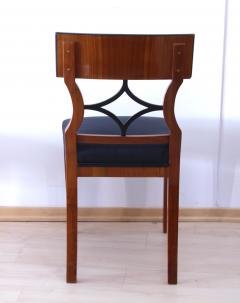 Two Biedermeier Style Chairs Cherry Veneer Birch Roots South Germany - 955138
