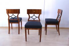 Two Biedermeier Style Chairs Cherry Veneer Birch Roots South Germany - 955139