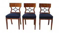 Two Biedermeier Style Chairs Cherry Veneer Birch Roots South Germany - 955147