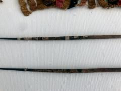 Two Framed Pre Columbian Textile Fragments and Tools - 599957