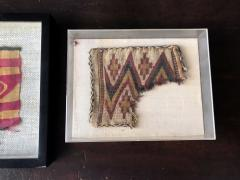 Two Framed Pre columbian Textile Fragments Nazca Culture - 534808