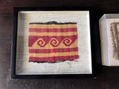 Two Framed Pre columbian Textile Fragments Nazca Culture - 534810