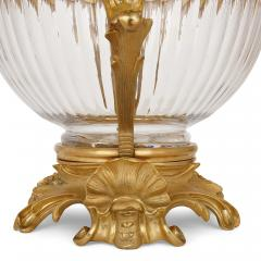 Two French Rococo style glass and gilt bronze bowls - 1913728