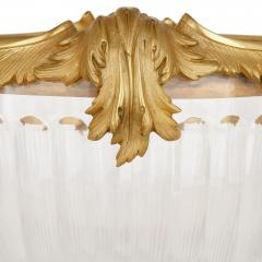 Two French Rococo style glass and gilt bronze bowls - 1913729