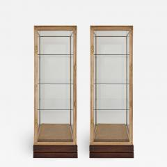 Two French burnished brass Art Deco vitrines - 1461848