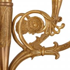 Two French gilt and patinated bronze sconces - 2013580