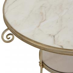 Two French marble and gilt bronze circular side tables - 1287219
