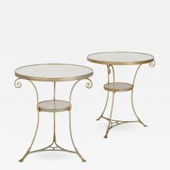 Two French marble and gilt bronze circular side tables - 1288836