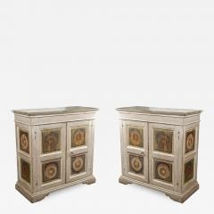 Two Hand Painted 19th Century Tuscan Cabinets - 1418501