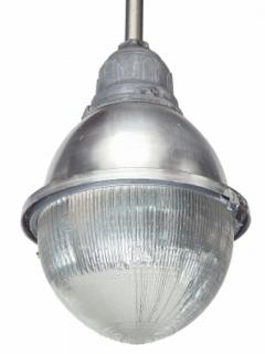 Two Industrial Halophane Street Lights - 1796170