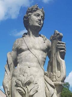 Two Italian Stone Garden Sculptures of Apollo and Roman Goddess - 1661385