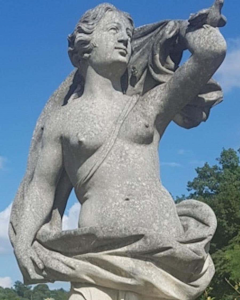 Two Italian Stone Garden Sculptures of Apollo and Roman Goddess - 1661407