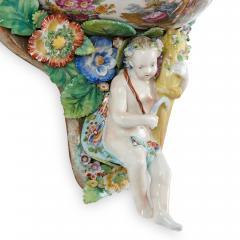 Two Meissen style decorative porcelain wall brackets - 1459516