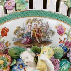 Two Meissen style decorative porcelain wall brackets - 1459517