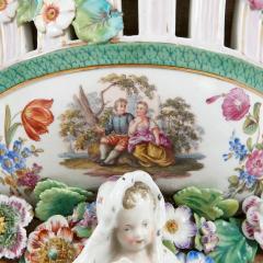 Two Meissen style decorative porcelain wall brackets - 1459518