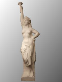 Two Monumental Nymphs in Plaster France circa 1940 - 915668