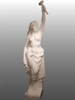Two Monumental Nymphs in Plaster France circa 1940 - 915669