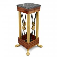 Two Neoclassical Empire Style Bronze and Marble Pedestals - 1984942