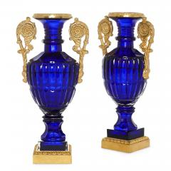 Two Neoclassical Style Russian Cut Glass and Ormolu Vases - 1942686