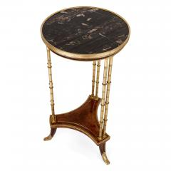 Two Neoclassical style marble gilt bronze and mahogany side tables - 1274245