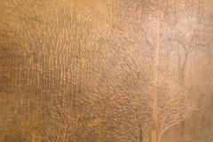 Two Panel Screen Autumn Forest with Mountain Rare Obara Paper Art Screen - 1905853