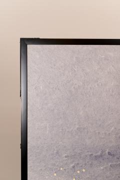 Two Panel Screen Chrysanthemums Through the Mist Rare Obara Paper Art Screen - 1939466