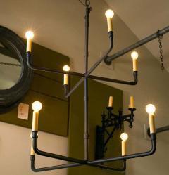 Two Tier Hand Made Iron Knox Chandelier - 1795739