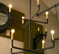 Two Tier Hand Made Iron Knox Chandelier - 1795747