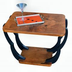 Two Tiered Art Deco English Walnut Coffee Table - 987550