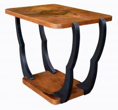 Two Tiered Art Deco English Walnut Coffee Table - 987551