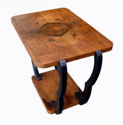 Two Tiered Art Deco English Walnut Coffee Table - 987554