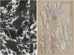 Two Trompe Loeil Paintings Simulating Marble And Breccia Di Settebasi - 997480