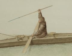 Two Watercolors of Greenland Inuit During A Missionary Tour of Copenhagen C 1724 - 551252