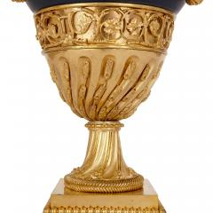 Two antique Neoclassical style painted tin and gilt bronze candelabra - 2013598